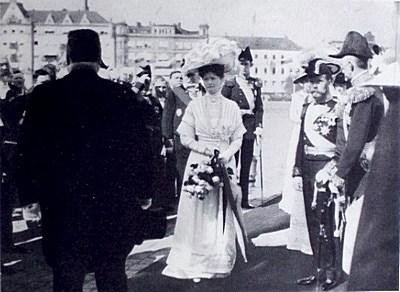 Tsarparet Nikolaj II och Alexandra
