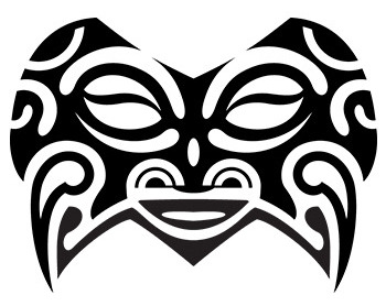 intricate-mask-maori-tribal-tattoo