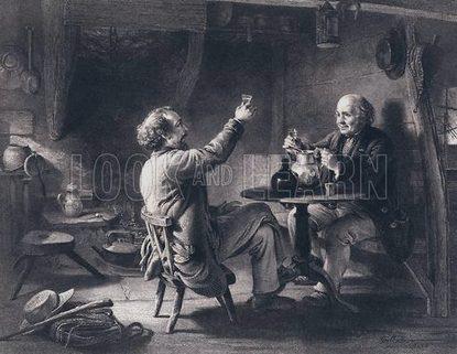 Illustration for Auld Lang Syne by Robert Burns