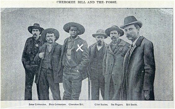 ettCherokee Bill, tredje från vänster