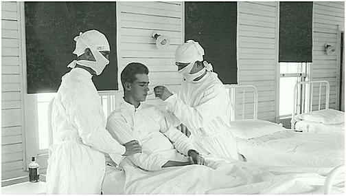 "1918-1919. An epidemic of ""Spanish Flu"" spread around the world"